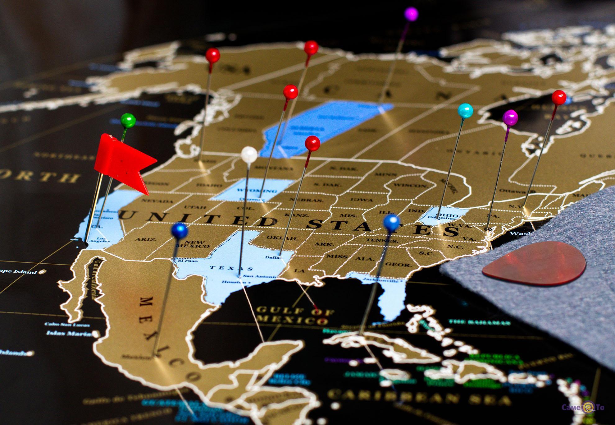 Скретч карта мира My Map Black Edition - карта путешественника