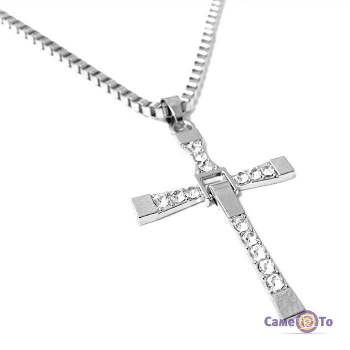 Крест Доминика Торетто с цепочкой, кулон - бижутерия