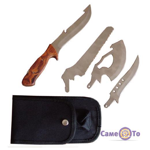Универсальный туристический походный нож Егерь 4 в 1