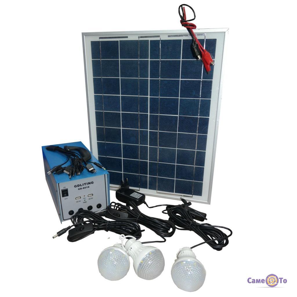 Автономный аккумулятор на солнечной батарее Solar Home System GDLite GD-8018