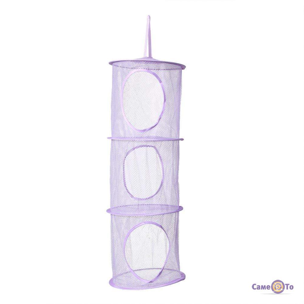 Подвесная корзина для игрушек на три уровня