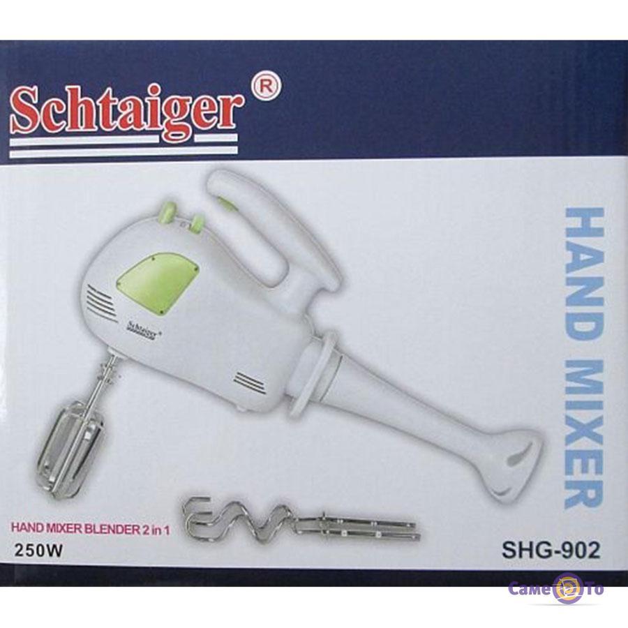 Блендер-миксер 2 в 1 Schtaiger SHG 902 ручной