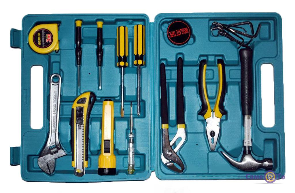 Набор инструментов для ремонта Home Owner`s Tool Set 21 в кейсе