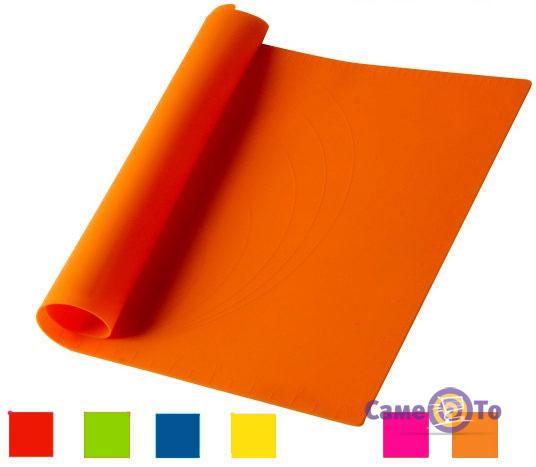 Силиконовый коврик для выпечки и раскатки теста 58х47 см.
