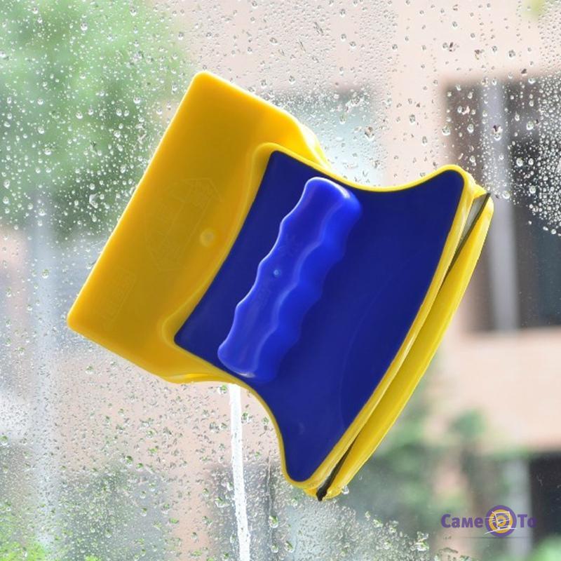 Магнитная щетка для двухстороннего мытья стекол Double Side Glass Cleaner