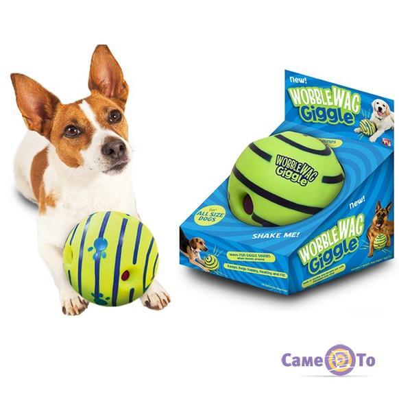 Игрушка для собак Хихикающий мяч Wobble Wag Giggle