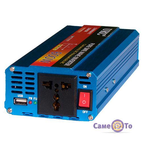 Инвертор автомобильный UKC XR-600B 600W (SURGE 1200W)