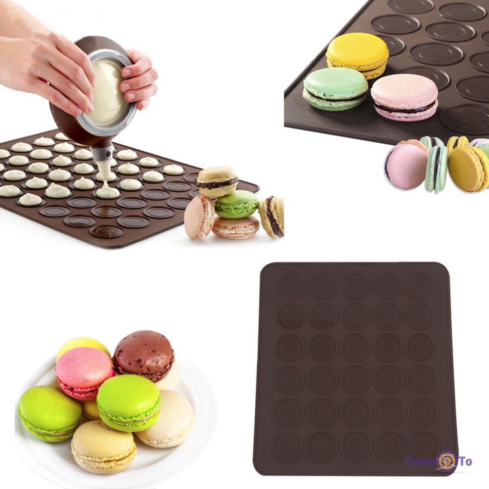 Силиконовый коврик для выпечки макарун, печенья 40х30 см.