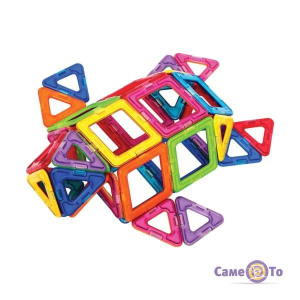 Детский магнитный конструктор с колесами Magical Magnet 56 деталей - Танк
