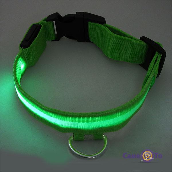 Светящийся светодиодный ошейник для собак и кошек