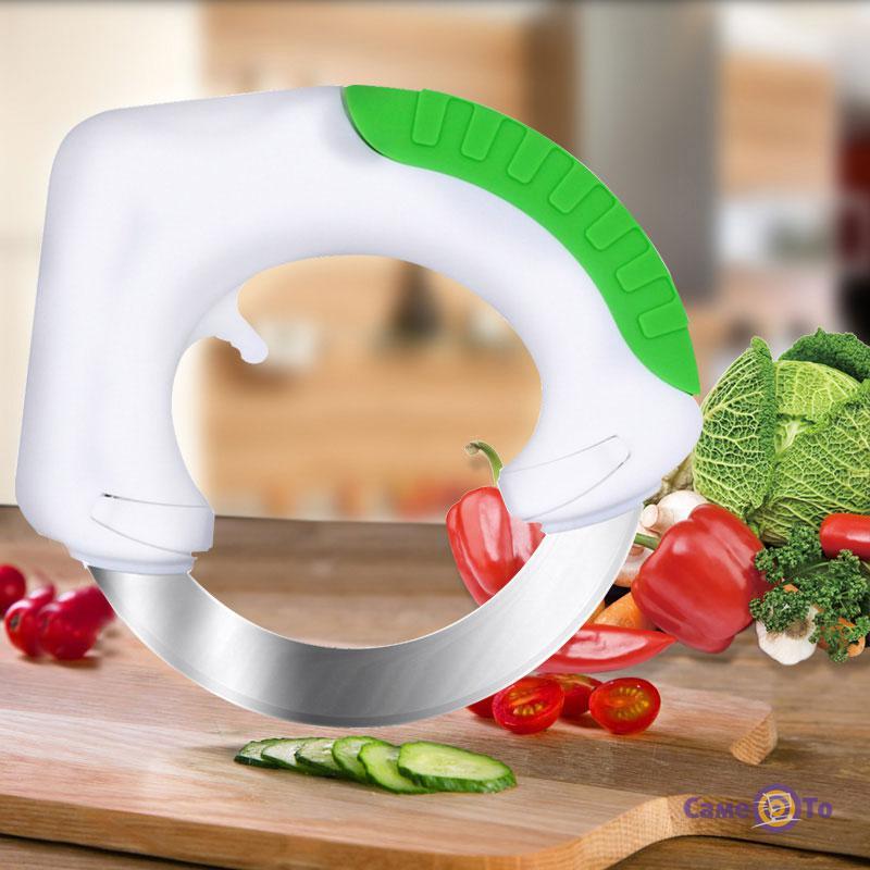 Круглый нож Bolo (Боло) для пиццы, мяса, овощей