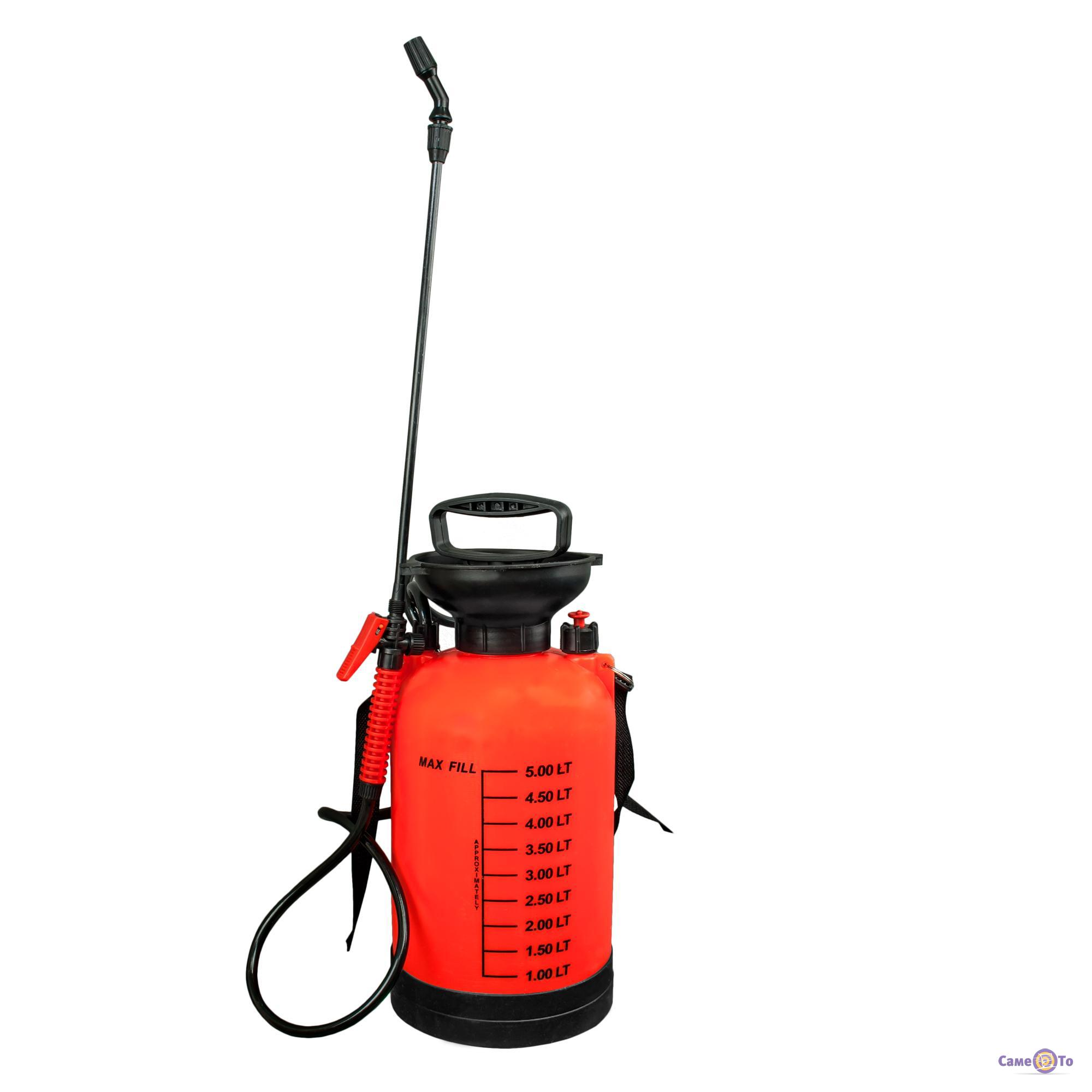Садовый ручной помповый опрыскиватель Pressure Sprayer 5 л. (Forte Форте ОП-5)