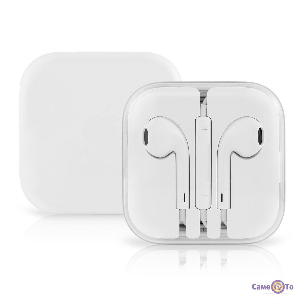 Наушники-гарнитура для телефона с микрофоном EarPods