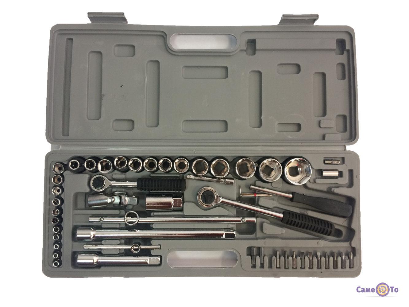 Универсальный набор торцевых гаечных ключей и головок в кейсе Extra 2283, 52 предмета