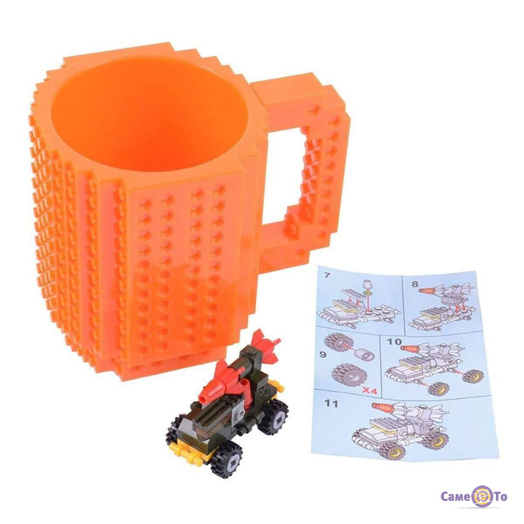 Кружка Лего на колесах Build-On Brick Mug 340 мл