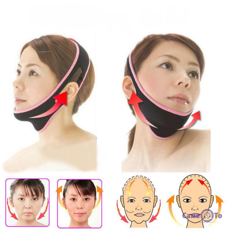 Подтягивающая тканевая лифтинг маска для лица и шеи Face Lift up belt