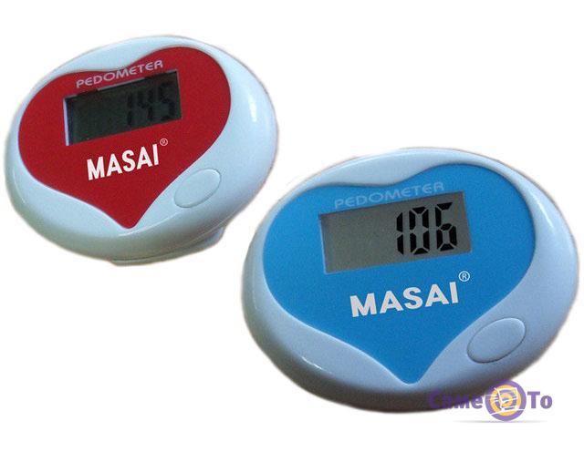 Электронный фитнес трекер активности - шагомер Pedometr Masai