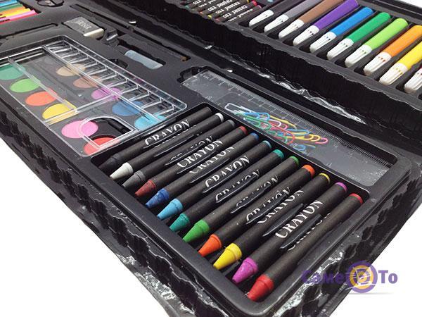 Детский подарочный набор для рисования и творчества в чемоданчике Art set, 92 предмета