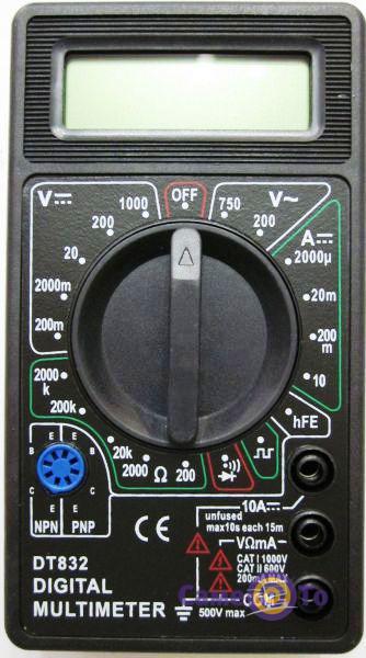 Цифровой мультиметр DT 832
