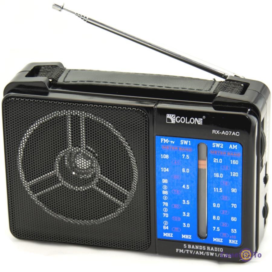 Музыкальный цифровой переносной FM-радиоприемник GOLON RX-A07AC