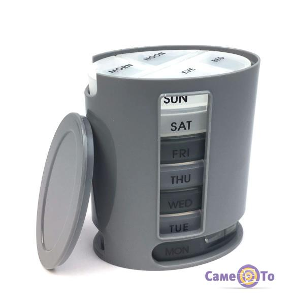 Контейнер-органайзер для таблеток, таблетница Неделька (Pillbox)