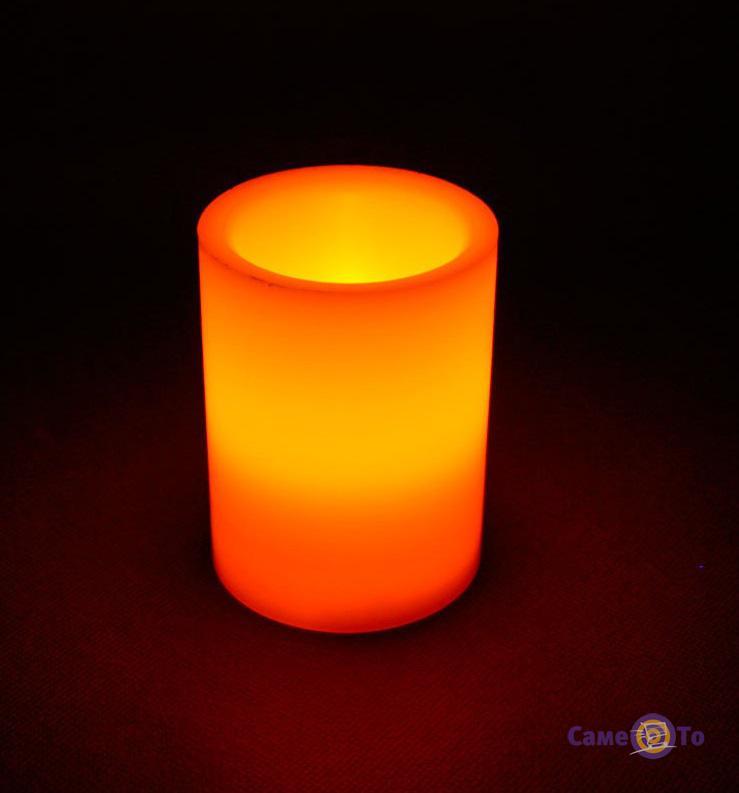 Декоративная диодная восковая LED свеча-ночник, 10 см