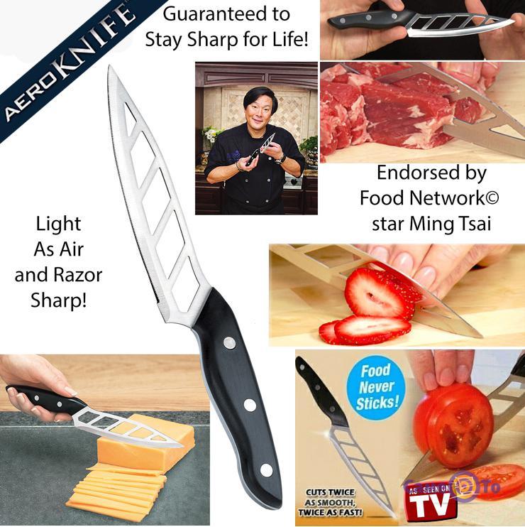 Аэродинамический кухонный стальной нож Aeroknife (Аэро нож)