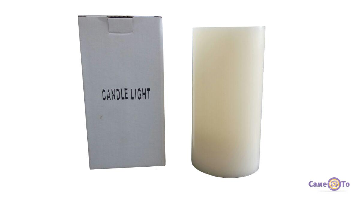 Декоративная диодная восковая LED свеча-ночник Candle Light, 15 см.