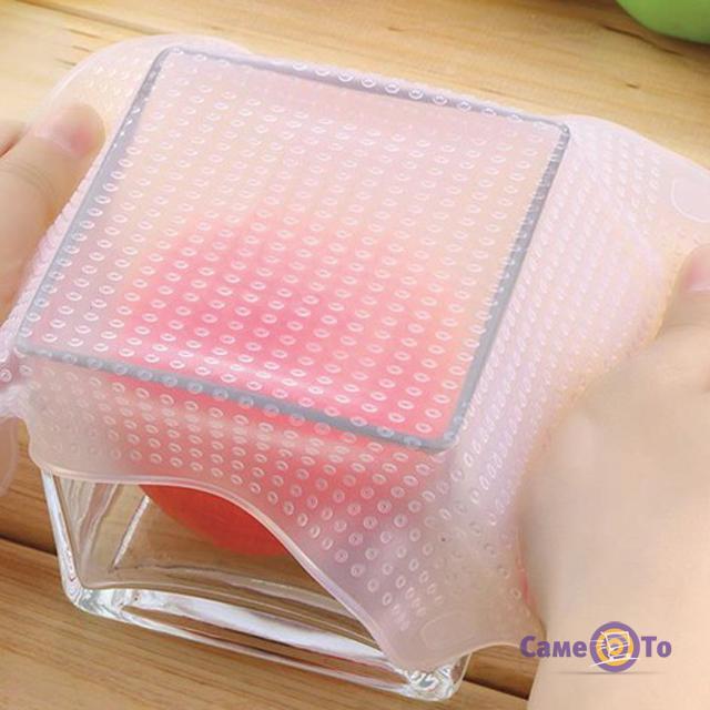 Набор многоразовых силиконовых крышек для посуды