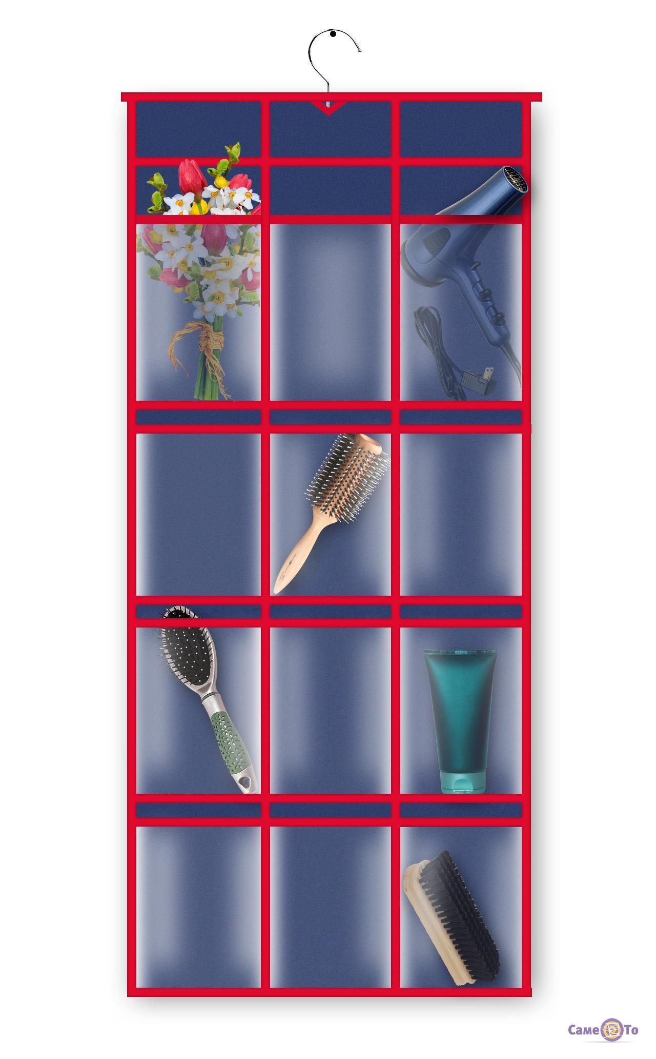 Подвесной тканевый кофр-органайзер для мелочей 60х90 см
