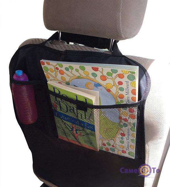 Защитный чехол-накидка на спинку переднего сидения авто с карманом