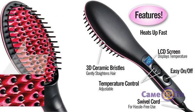 Электрическая расческа-выпрямитель для волос Simply Straight HQT-906B