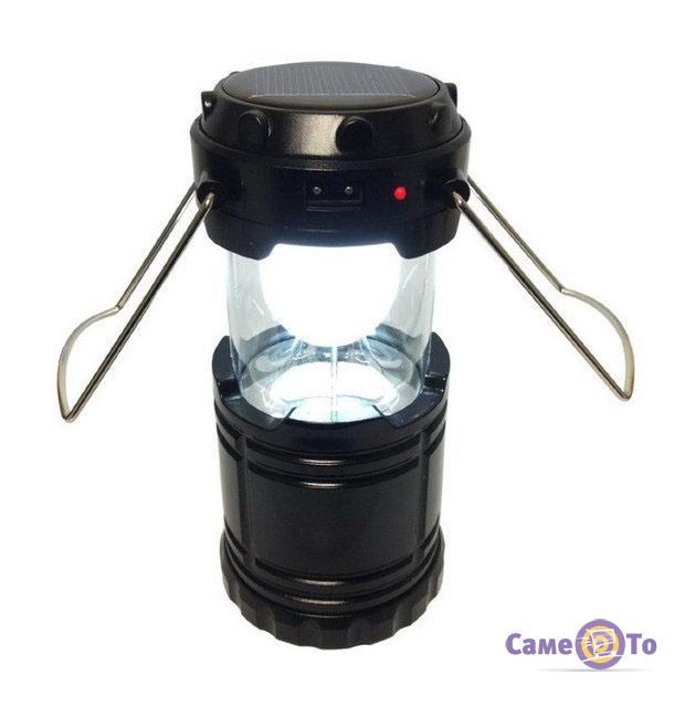 Туристический кемпинговый фонарик на солнечной батарее Rechargeable Camping Lantern G-85 6LED