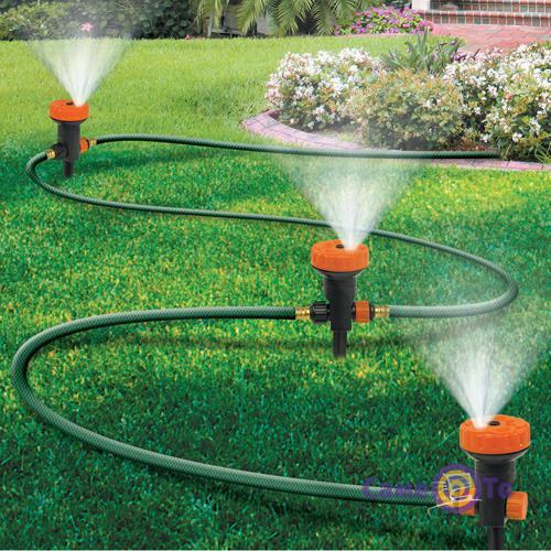 Спринклерная система автополива для сада Portable sprinkler system