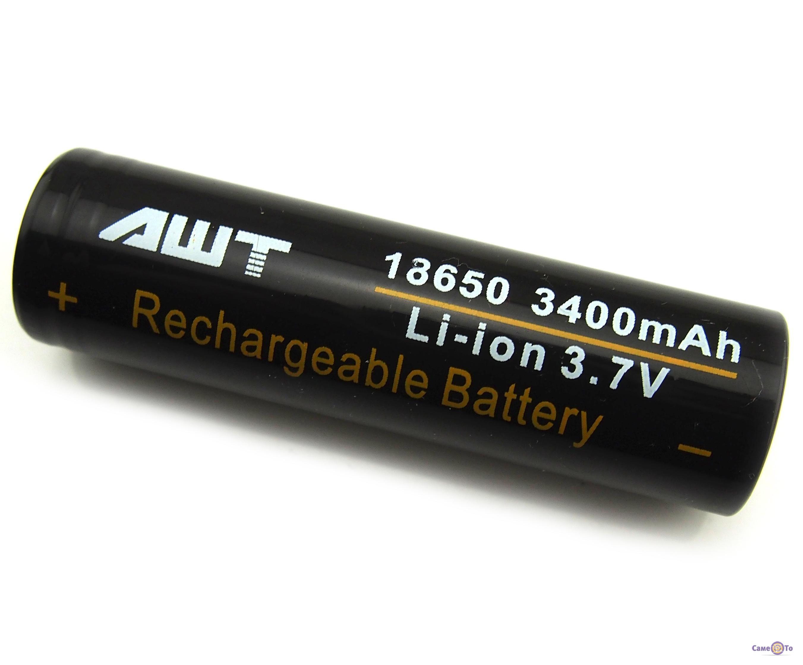 Аккумуляторная батарея для электронных сигарет высокотоковая 18650 AWT 3400 mAh