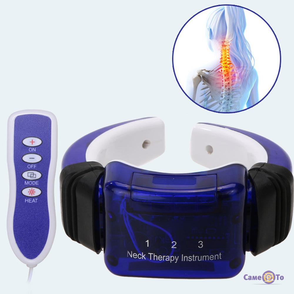 Вибромассажер для шеи на батарейках Neck Therapy Instrument PL-718A