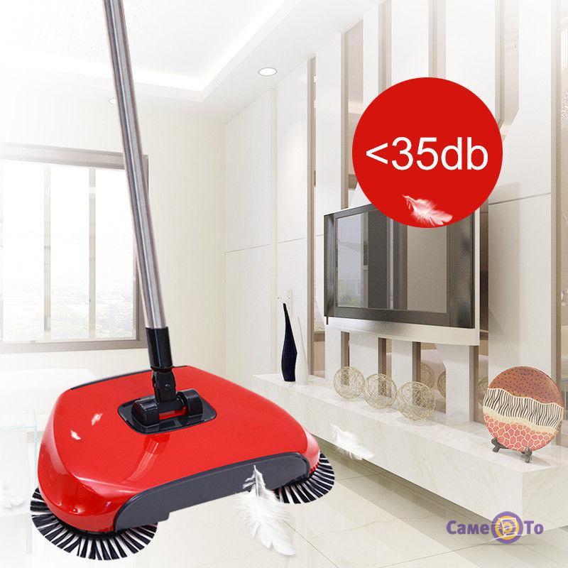 Веник для уборки с щетками автоматический Sweep drag all in one Rotating 360