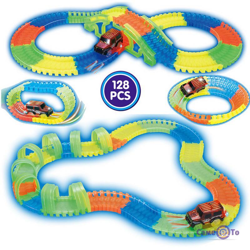 Конструктор для детей игрушечная дорога Track Car 128 деталей + машинка
