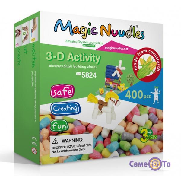 Развивающий мягкий конструктор для детей Magic Nuudles, 400 деталей