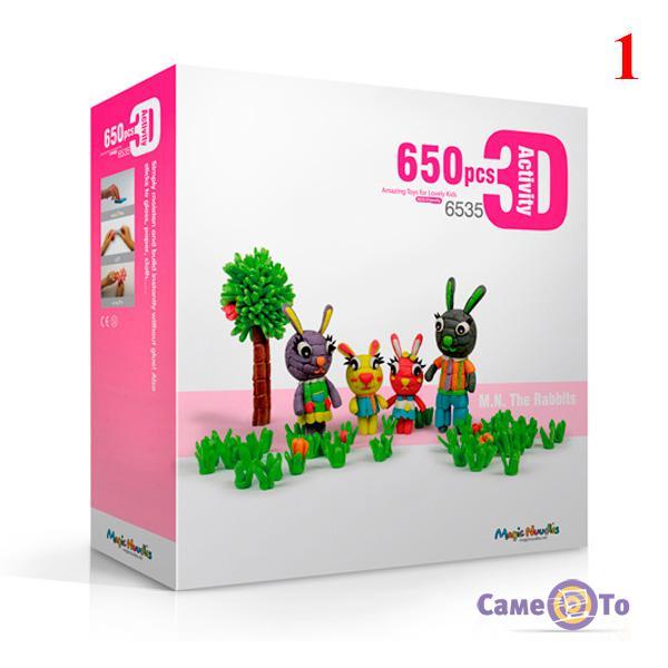 Развивающий мягкий конструктор для детей Magic Nuudles, 650 деталей