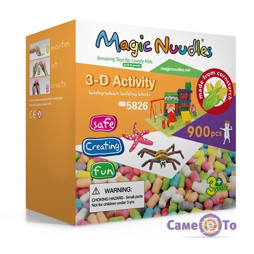 Развивающий мягкий конструктор для детей Magic Nuudles, 900 деталей