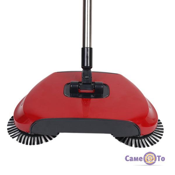 Веник для уборки с щетками автоматический Sweep drag all in one Rotating 360