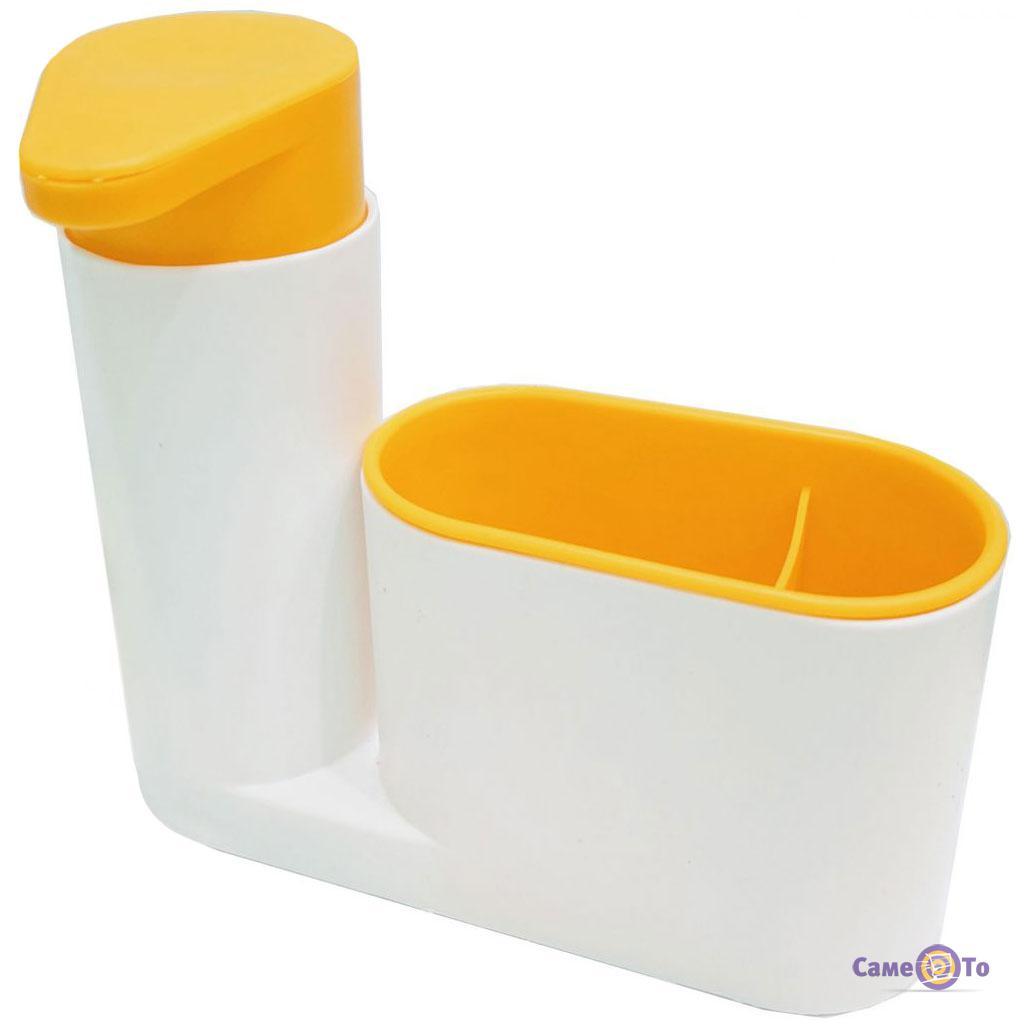 Органайзер для ванной 2 в 1 - дозатор для жидкого мыла и стакан для  зубных щеток Sink Tidy Sey