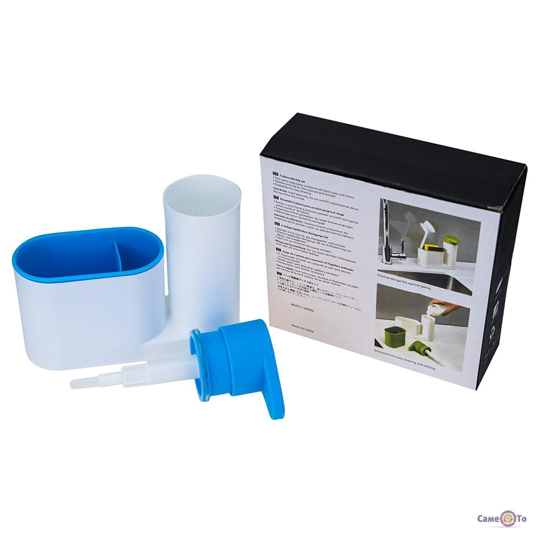 Органайзер для ванної 2 в 1 - дозатор для рідкого мила і стакан для зубних  щіток ... 5d1662cc34291