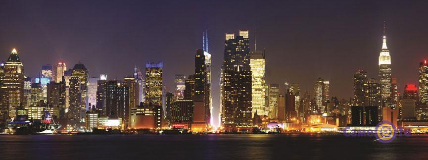 Настенный инфракрасный электрический обогреватель-картина VIP Нью-Йорк