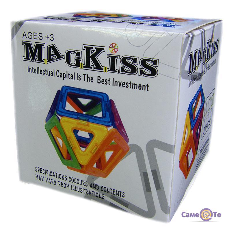 Магнитный развивающий конструктор для детей с большими деталями MagKiss 20 pcs