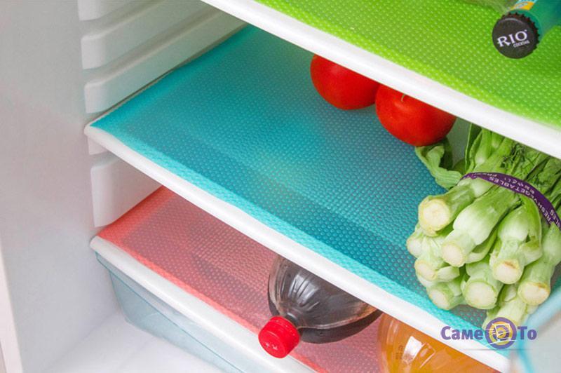Антибактериальные коврики для холодильника, 4 шт.
