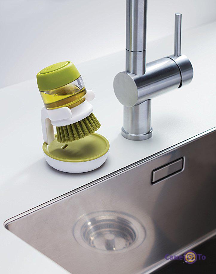 Щетка для мытья посуды Jesopb со встроенным дозатором моющего средства