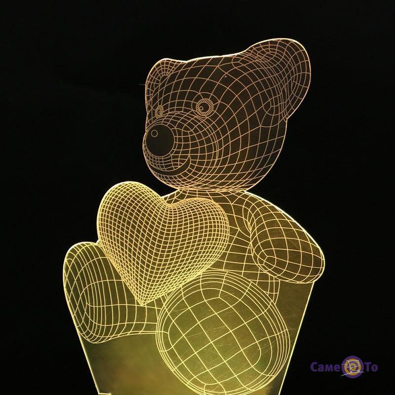 Светодиодный настольный 3D ночник-светильник для детской