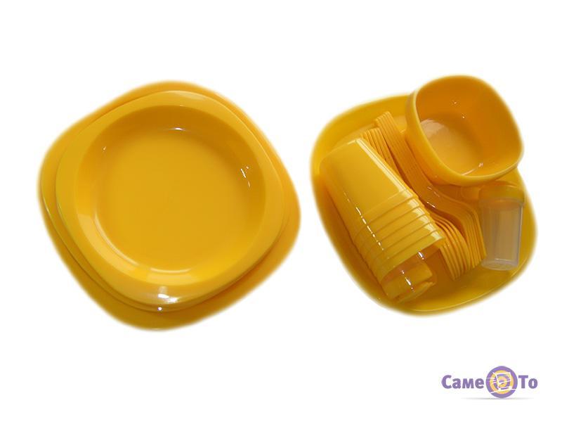 Набор пластиковой посуды для пикника на 6 персон, Bita 48 предметов